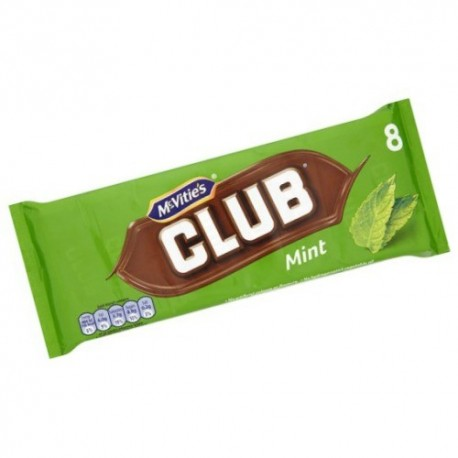McVities Club Mint Biscuits - 8 Pack