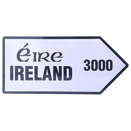 Ireland 3000 Mini Metal Road Sign
