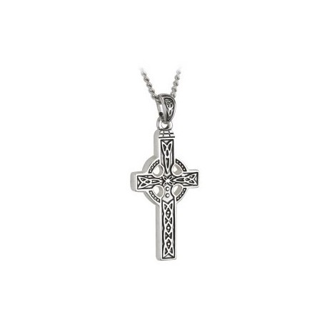 Solvar Celtic Cross Trinity Steel Pendant
