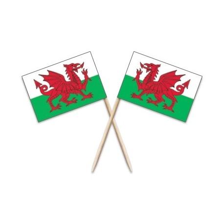 Wales Flag Toothpicks