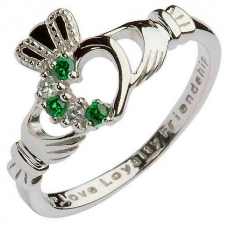 shanore claddagh set silver ring a bit of home