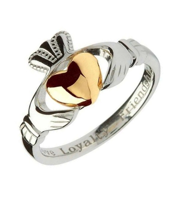 shanore claddagh gold silver ring a bit of home