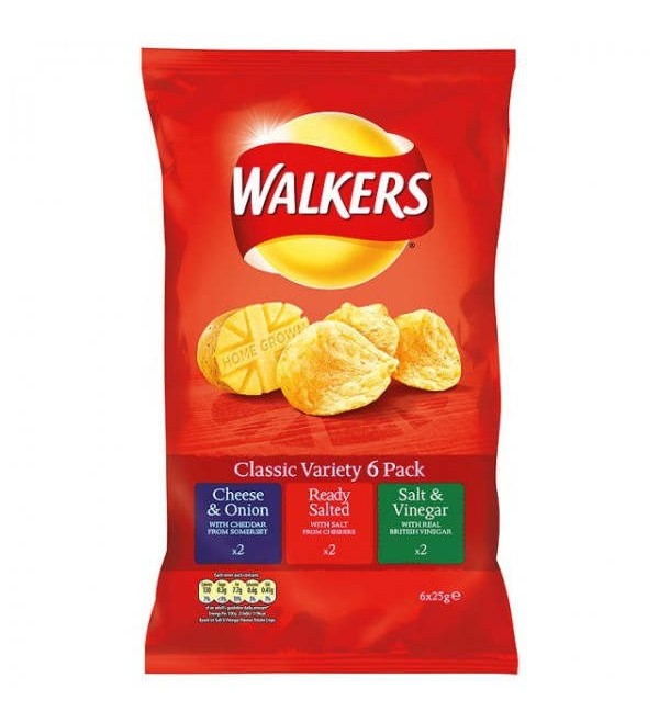Walkers Classic Variety Crisps 6 Pack - A Bit of Home (Canada)