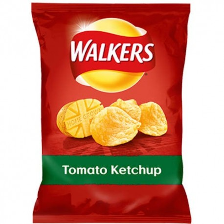 Walkers Tomato Ketchup Crisps - 35g