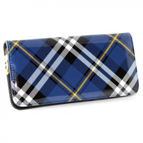 Blue Tartan Zip Purse