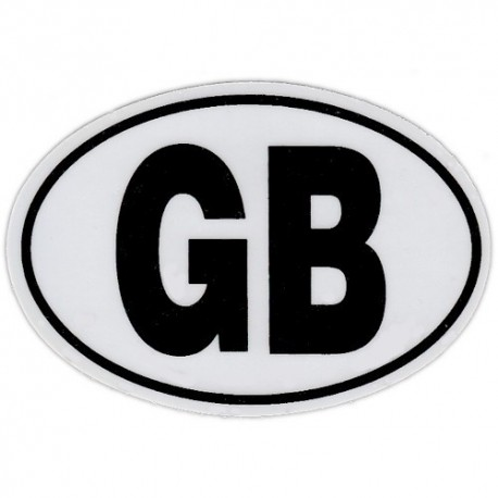 Great Britain Country Code Oval Window Cling