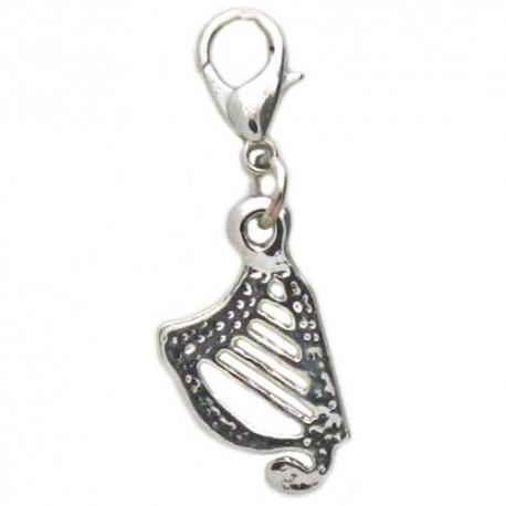 Irish Harp Clip Charm