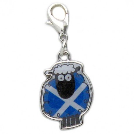 Scotland Saltire Sheep Clip Charm