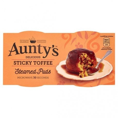 Aunty's Sticky Toffee Puddings - 2x95g