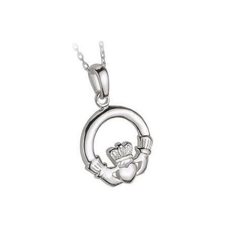 Solvar Traditional Claddagh Silver Pendant