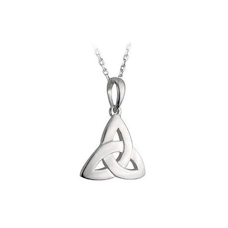 Solvar Trinity Knot Flat Silver Pendant