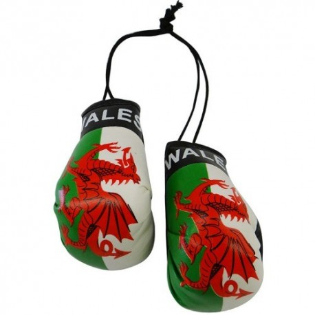 Wales Boxing Gloves Dangle