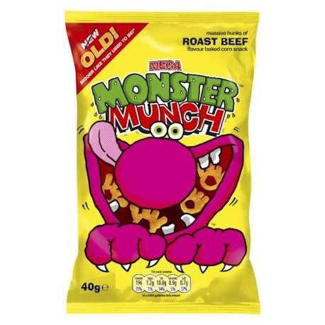 Walkers Roast Beef Monster Munch - 48g