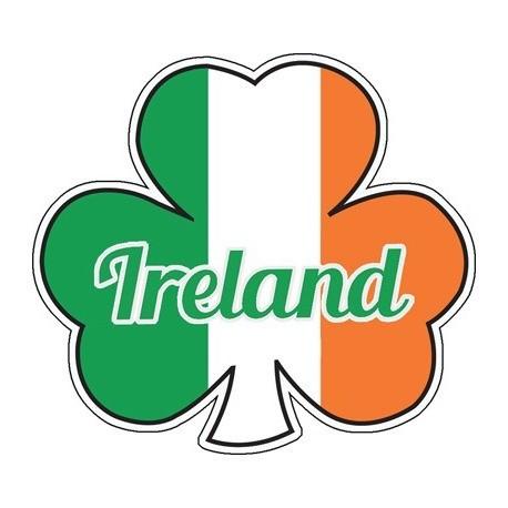 Ireland Tricolour Shamrock Sticker