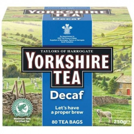 Yorkshire Decaf Tea Bags - 80