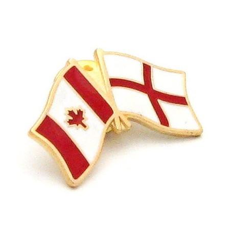 England-Canada Friendship Pin Badge