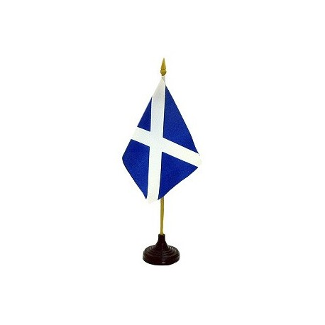 Scotland St Andrews Cross Flag - 4x6 Table Top