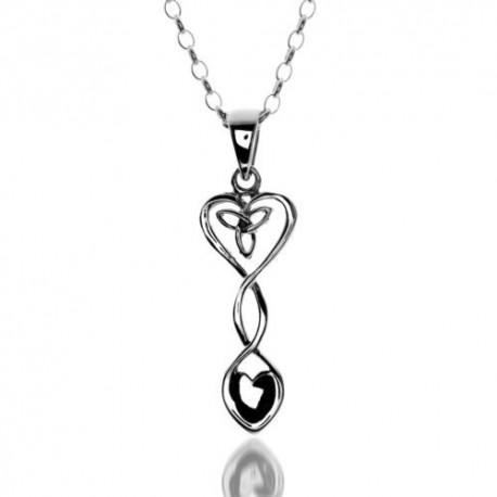 Sea Gems Celtic Love Spoon & Heart Pendant