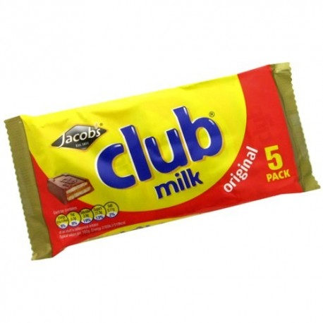 Jacob's Club Milk Biscuits - 5 Pack