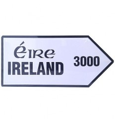 Ireland 3000 Mini Metal Road Sign