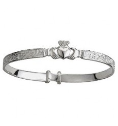Solvar Claddagh Silver Baby Bangle