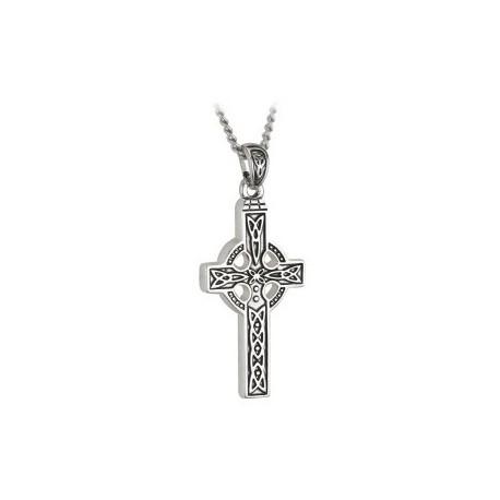 Solvar Celtic Cross Trinity Steel Pendant