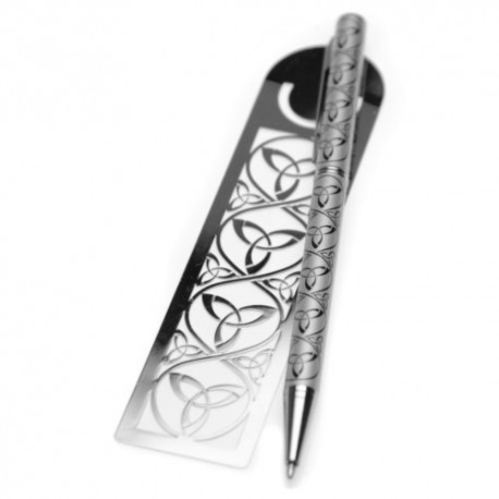 Sea Gems Trinity Knot Pen & Bookmark Gift Set