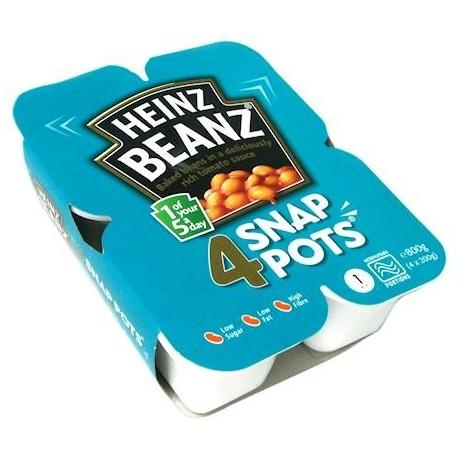 Heinz Baked Beanz Snap Pots - 4 x 200g