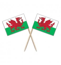 Wales Flag Toothpicks
