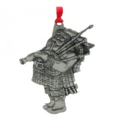 Pewter Scottish Santa Ornament
