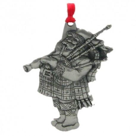 Pewter Scottish Santa Ornament