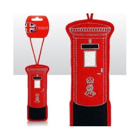 British Post Box Felt Tree Decoration