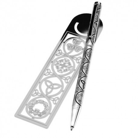 Sea Gems Irish Symbols Pen & Bookmark Gift Set
