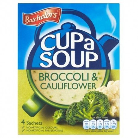 Batchelors Broccoli & Cauliflower Cup a Soup - 4 Pack