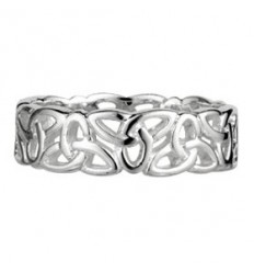 Solvar Ladies Trinity Knot Silver Ring