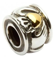 Shanore Gold & Silver Claddagh Bead Charm