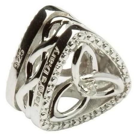 Shanore Trinity Knot Diamond Set Triangle Charm