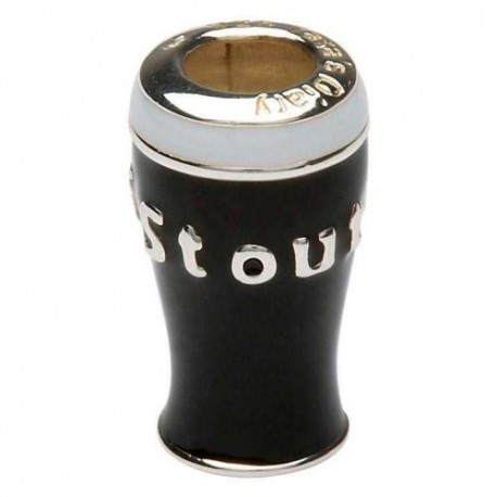 Shanore Pint of Stout Enamel Charm