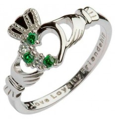 Shanore Claddagh Heart Set Silver Ring
