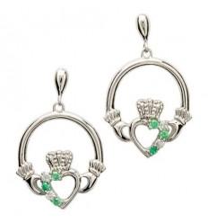 Shanore Claddagh Open Heart Set Silver Earrings
