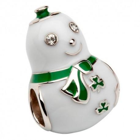 Shanore Irish Snowman Silver Charm