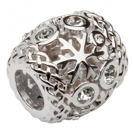 Shanore Celtic Snowflake Stone Set Charm
