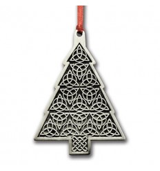 Pewter Celtic Christmas Tree Ornament