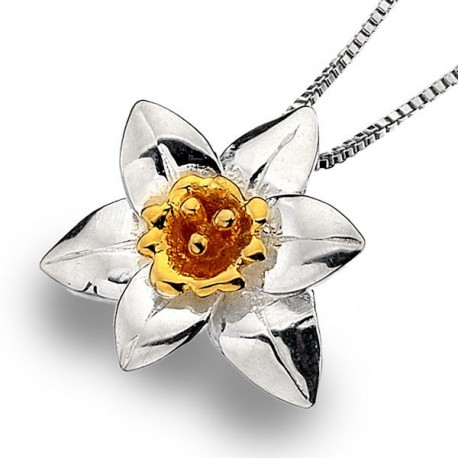 Wales Daffodil Silver Pendant