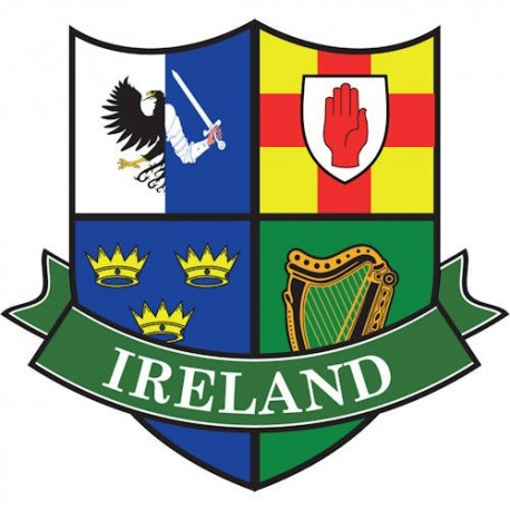 Ireland Four Provinces Shield Sticker