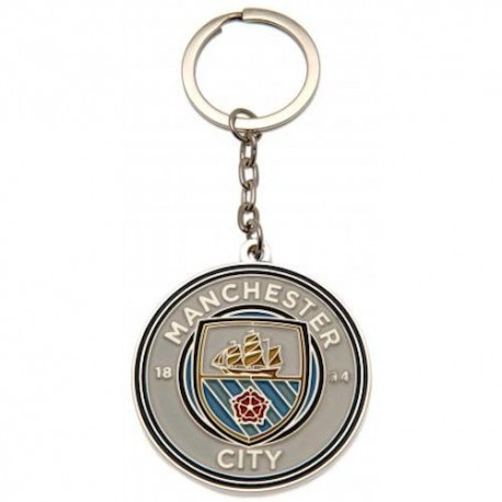 Manchester City FC Crest Keyring