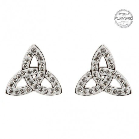 Swarovski Crystal Celtic Trinity Stud Earrings