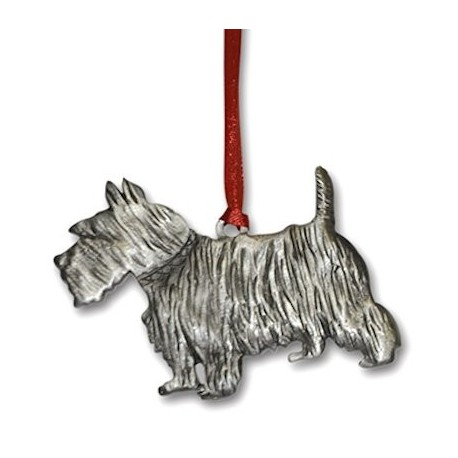 Pewter Scottie Dog Ornament