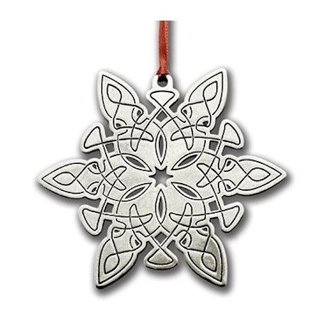 Pewter Celtic Snowflake Ornament