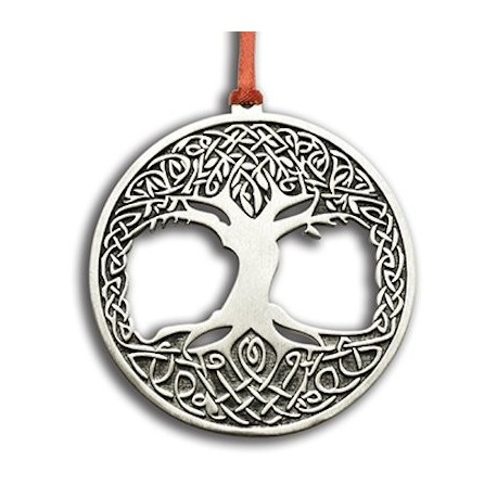 Pewter Celtic Tree of Life Ornament